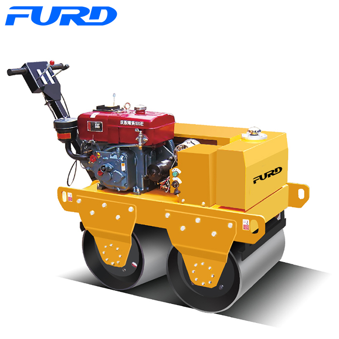 Diesel Hand Operated Mini Road Roller Compactor