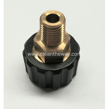 "Pressure Washer 1/4""MNPT Brass M22 Fitting"