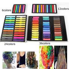 Fashion Easy Temporary Colors Non-toxic Hair Chalk Dye Soft Hair Pastels Kit Newest Hair Color