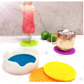 Rainbow Colors Proof Outdoor Tabletop Silicone Cup Coasters