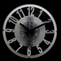 Vintage Gear Wall Clock Black White
