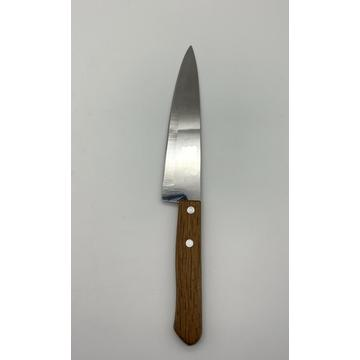 7 INCH single piece wood handle carving knife
