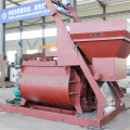 Twinshaft self loading manual concrete mixer machine
