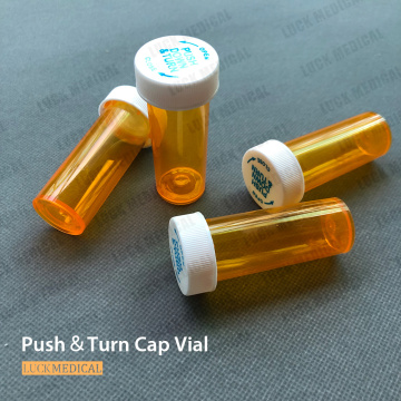 Child Resistant Push&Turn Cap Vial