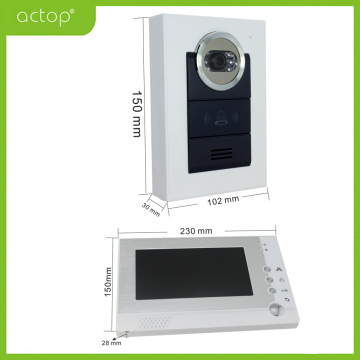Wired Color Two Way Video Intercom System