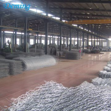 3.4mm Double Twist Heavy Galvanized Woven Gabion Basket