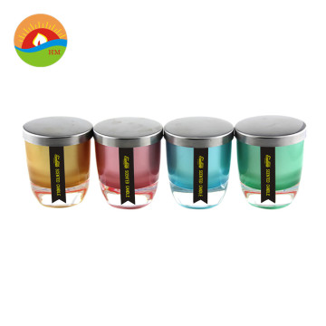 Wholesale Container Glass Candle With Lid For Wax