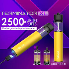 Flexible Payment Terms 2500 Puffs Termintaor Vaporizer Pen