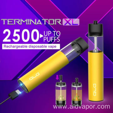 Top 5 Asian E-Cigarette producer 2500 Puffs Weed Vaporizer