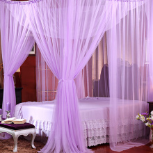 Canopy White Black Four Corner Post Student Canopy Bed Mosquito Net Netting Queen King Size