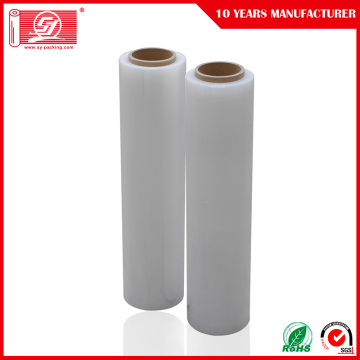 Hand Using Stretch Film Plastic Wrapping roll