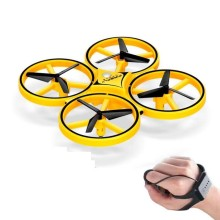 Gesture flying mini RC drone Watch drone Interactive induction RC quadcopter intelligent watch remote control LED light drone