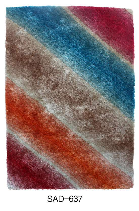 Polyester Shaggy Gradational color Carpet