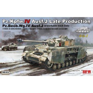Rye Field Model RFM RM-5033 1/35 Pz.Kpfw.IV Ausf.J Late Production w/workable track links- Scale model Kit