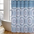 Shower Curtain PEVA Classic Blue Plants