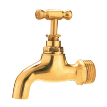 Brass golden color water tap brass bibcock