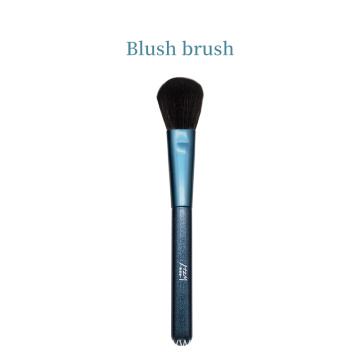 Single Blue Glitter Face Private Label Blush Brush