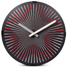 Red Star Motion Wall Clock