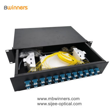 SJ-OTB-M18 2U 48 Cores LC Duplex Fiber Optic Termination Box Patch Panel