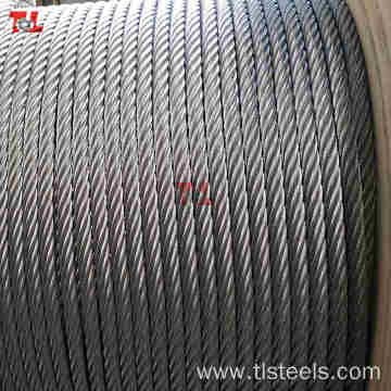 AISI 316 Stainless Steel Wire Rope 7X7 6mm