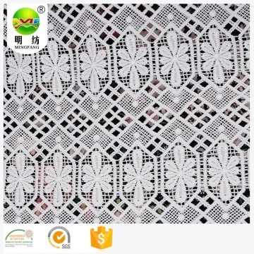 wholesale 100% polyester embroidery lace dress fabric
