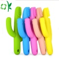 Custom BPA Free Silcone Bristle Toothbrush for Baby