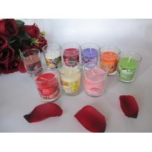 Long Burning Coloured Scented Glass Candle 2