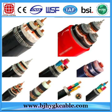 12/20kv Aluminum Alloy Conductor XLPE PVC Sheath Cable