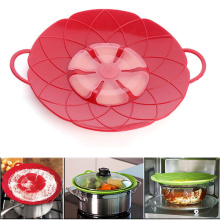 New Life Multi-function Cooking Tools Flower Cookware Parts Safe Silicone Boil Over Spill Lid Stopper Oven For Pot/Pan Cover