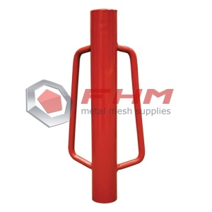 Paint Red T Post Driver Manual Metal