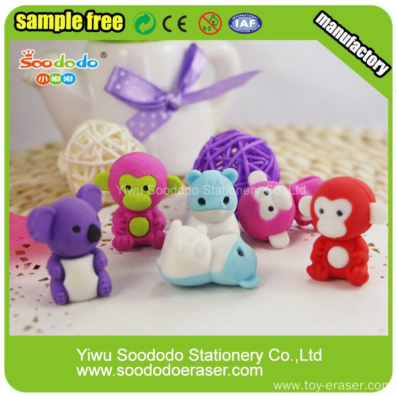 Novelty Students animal stationery Eraser