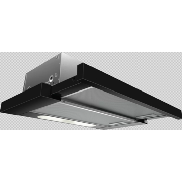 Black Telescopic Hood Extractor 60cm