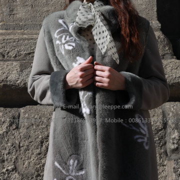 Kopenhagen Mink Fur Overcoat In Winter Women