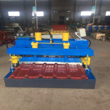 Steel step tile roll forming machine