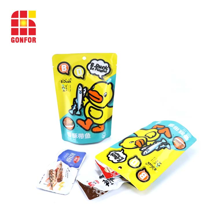 Children snack food packaging aluminum bag with printing (5)