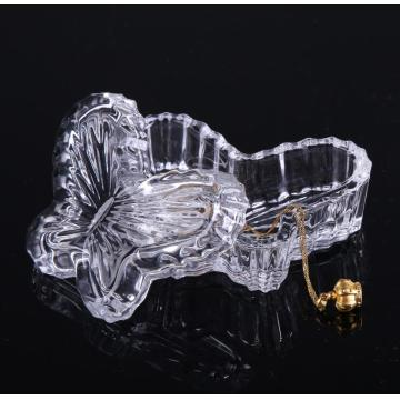 Clear Glass Butterfly Shape Decoration/Gift Box