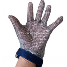 Wrist length steel ring mesh butcher glove