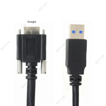USB Micro B Cable with Locking Screws 1m 3m 5m USB 3.0 Micro-B Industrial Camera Cables Cameralink Black
