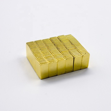 neodymium magnet block for industrial with Gold coating