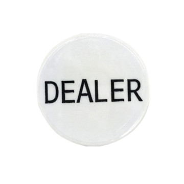 High Quality White Acrylic Dealer Button