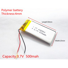 3.7V 500mAh 402550 Lithium Polymer Li-Po li ion Rechargeable Battery cells For Mp3 MP4 MP5