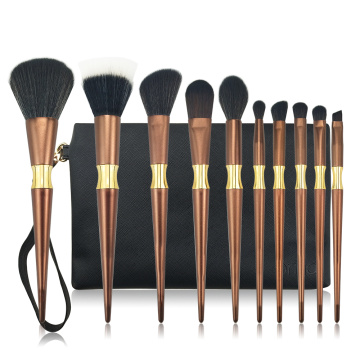 10PC Metal Makeup Brush Samling