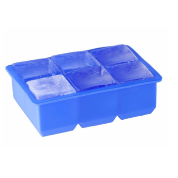 Popular Silicone 6 Cavities Ice Cube Tray Mold