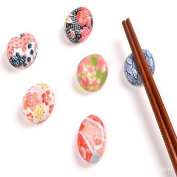 100 Pieces Ceramic broad bean chopsticks rack hotel restaurant chopsticks