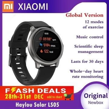 Xiaomi Haylou Solar LS05 LS02 Smart Watch Sport Metal Heart Rate Sleep Monitor Mi Band 5 Waterproof iOS Android YouPin