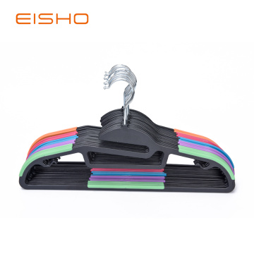 Space Saving Non-Slip Plastic Coat Hangers PV002