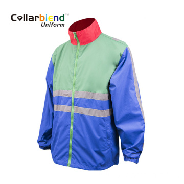 High reflector blue safety reflective jacket