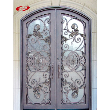 Modern Entry French Main Wrought Iron Door