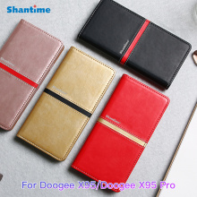 PU Leather Wallet Phone Bag Case For Doogee X95 Fashion Flip Case For Doogee X95 Pro Business Case Soft Silicone Back Cover