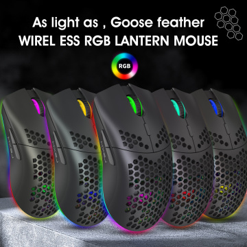 Gaming Mouse Wireless Mouse Rechargeable Colorful Luminous 2.4G PC Mouse Pad Gaming Accessories For Xiaomi Wirless Gaming Mouse